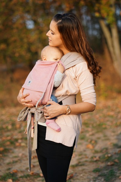 LIMAS Baby Carrier - Pink/Beige