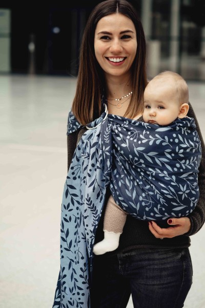 LIMAS Ring Sling - Flora Midnight Blue